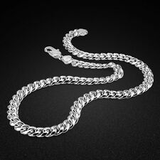 "Genuine Solid Sterling Silver Rope Link Chain Men's Necklace 22"" N374"