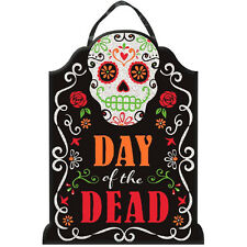 "16"" Halloween Muertos Day Of The Dead Tombstone Glitter Sign Cutout Decoration"