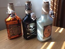 Halloween 3 X Poison bottle decoration Props - witch hazel, poison, skull bottle