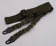 Rifle Sling Tactical Quick Release Bungee 2 Point OLIVE DRAB Green Adjustabl 60""