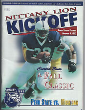 1997 Michigan Penn State away football program National Champion Woodson Heisman