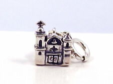 Sterling Silver Adobe Church Charm - fits Euro & Link Charm Bracelets - 1511