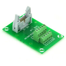 "IDC10 2x5 Pins 0.1"" Male Header Breakout Board, Terminal Block, Connector."