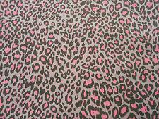 Gris Rose Noir Punk Léopard Imprimé animal Coton extensible tissu élasthanne sergé