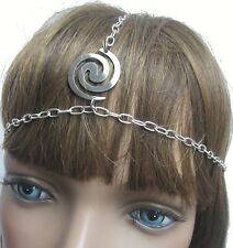 Dancer Boho Head Chain head band Silver swirl one size fits most  Retro  Sexy