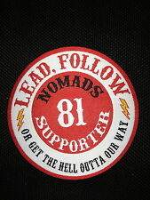 SUPPORT 81 NOMADS PATCH 81 SUPPORTER ANGELS 666 HELLS 1 % ER BIKERS PATCH BADGE