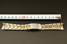 Genuine ROLEX Mens 18K Gold SS Oyster Bracelet 78363 Watch Band 20mm End Links