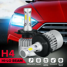 PAIR H4 High-Low 160W 16000LM COB LED Headlight kit Driving Lamp Bulbs Globes