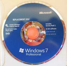 New genuine Microsoft Windows 7 Professional 32-bit Replacement Disc with SP1
