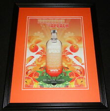 2005 Absolut Apeach Vodka Framed 11x14 ORIGINAL Advertisement