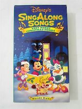 Walt Disney Sing Along Songs Very Merry Christmas VHS Mickey Mouse Vol. 8