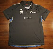 Official New Zealand Blackcaps T20 Player Worn Cricket Training Guernsey Size XL