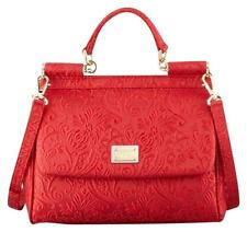 New Dolce & Gabbana  Miss Sicily Brocade Flap Bag Red $2499.99