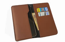 High Quality Wallet Case Cover Pouch for LYF 5008 Water 2  - Brown
