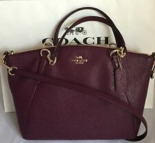 COACH Small Kelsey F36675 Pebbled Leather Shoulder Crossbody Bag IM/Plum NWT