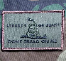 LIBERTY OR DEATH DONT TREAD ON ME USA ARMY TACTICAL FOREST VELCRO MORALE PATCH
