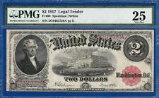 1917 $2 Red Seal Legal Tender Note USN Fr. 60 Certified PMG Very Fine VF 25 C2C