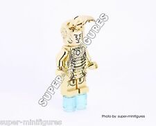 Ironman Super Heroes gold chrome minifigure ( lego custom mr.gold )