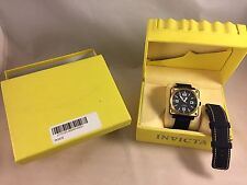 Rare Invicta Corduba 3967 Carbon Dial Square Black Bronze Automatic 46mm 2 Bands