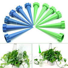 12 Plant Cone Spike Waterer Water Flower Control Drip Bottle Irrigation System