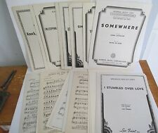 Lot of 26 Advance Artist Copy SHEET MUSIC, Vintage 1930s-1940s