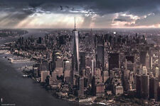 NEW YORK CITY - UNDER STORM POSTER - 24x36 NYC MANHATTAN CLOUDS 5618