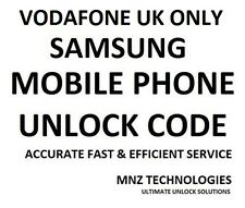 Vodafone UK Unlock Code Samsung Galaxy S7 Edge S6 Edge S5 S4 S3 S4 Mini Note 5 3