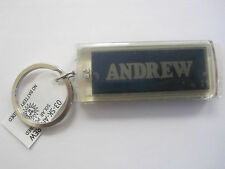 "ANDREW Key Chain Solar 2.5""x1  Blinks NOS"