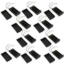Lot 10 Pcs New 2 AA 2A Battery 3V Holder Box Case with ON/OFF Switch Black