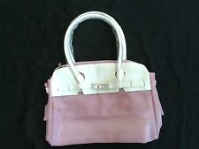 Ladies pink and white plastic beach swimming sport handbag (CB2)