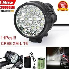 28000LM 11 x CREE XM-L T6 LED 8 X 18650 Luz de Bicicleta Ciclismo Lámpara Impermeable UK