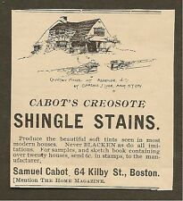 VINTAGE AD FOR CABOT'S CREOSOTE SHINGLE STAINS