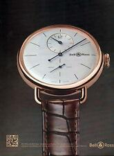 ▬► PUBLICITE ADVERTISING AD Montre Watch BELL & ROSS WW1 Régulateur or rose