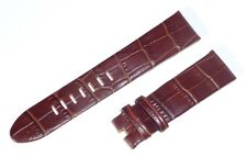 22mm 22/20mm BROWN Alligator-Style Leather Band Strap for MONTBLANC