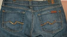 Womens Seven 7 for All Mankind Jeans Boot Low Size 26 Actual 28X31