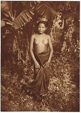 1920's Old Vintage Asian Thai Thailand Female Nude Model Photo Gravure Print