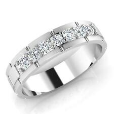 0.36 ct Certified Diamond Mens Engagement Rings 14K White Gold Mens Ring Size U