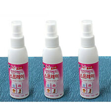 3Pcs Anti Static Spray Rose Incense Antistatic Deodorant Anti Clothes Wrinkle