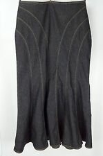 ** BISOU BISOU  **  Gorgeous Flowing Mermaid Indigo Blue  Denim Skirt Size 12