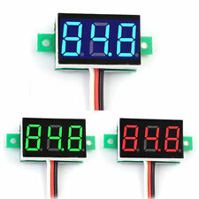 3-Digital LED DC 0-100V Diaplay Voltage Voltmeter Panel Meter with 3 Wires Mini