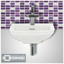 BRICK Rectangular Glass Mosaic Tiles Bathrooms Kitchens Wall Floors SALE! 4B-104