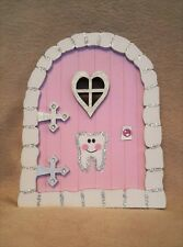 3D Handpainted & Decorated Glitter Pale Pink Tooth fairy, faerie, pixie door