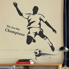 Huge Football Champion Strike Wall Sticker Sports Decal Art Boys Kids Room Decor