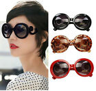 Women Inspired Round High Baroque Swirl Arms Fashion Design Oversize Sunglasses