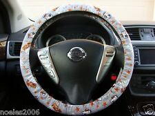 Handmade Steering Wheel Cover Kiss Hello Kitty Grey
