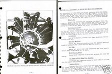Jacobs R-755 Radial Engine Maintenance 1950's rare detailed historic archive