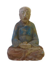Chinese Rustic Wood Small Sitting Monk Statue cs1686