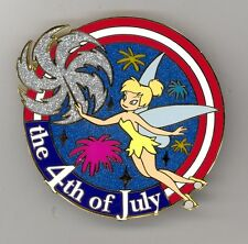 DA Disney Auctions Patriotic 4th of July Tinker Bell Sparkler Jumbo LE 100 Pin