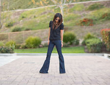 CURRENT ELLIOTT HIGH RISE BELL Dark Wash 1970's Bell Bottoms Boho Flare Jeans 24