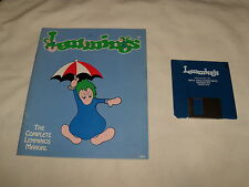 Lemmings (PC, 1991) 3.5 floppy disk with manual